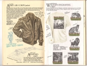 Banana Republic  Catalog #33 Fall 1987 Army Air Corps Jacket, Aviator's Scarf, Old English Wildlife Engraving Shirt