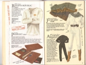 Banana Republic  Catalog #33 Fall 1987 Banana Republic Shirt, Passport Case, Jacquard Scarf, All-Night Flightsuit