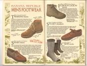 Banana Republic  Catalog #33 Fall 1987 Trekking Boots, Safari Shoes, Foreign Legion Boots, Sneaky Sneakers, Crew Socks