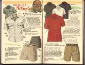 Banana Republic  Catalog #33 Fall 1987 Ventilated Shirt,  Expedition Shorts, No-Horse Shirt, Italian Army Shorts