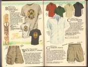 Banana Republic  Catalog #33 Fall 1987 Banana Republic t-shirt, Walkabout Shorts, Costa Brava Shirt, Gurkha Shorts