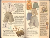 Banana Republic  Catalog #33 Fall 1987 Yucatan Shirt, Memsahib Shorts, Document Bag, Lido Shorts