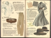 Banana Republic  Catalog #33 Fall 1987 Pure White Shirt, Contour Belt, Chino Trousers, Houndstooth Dress, Incognito Hat