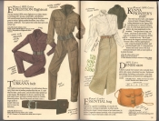 Banana Republic  Catalog #33 Fall 1987 Expedition Flightsuit, Turkana Belt, Kenya Pioneer's Shirt, Denim Skirt, Essential Bag
