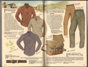 Banana Republic  Catalog #33 Fall 1987 Pyrenes Shirt, Braided Belt, Save-The-Wales Pants, Low-Profile Bag