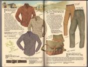 Banana Republic  Catalog #33 Fall 1987 Pyrenes Shirt, Braided Belt, Save-The-Wales Pants, Low-Profile Bag