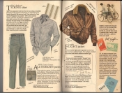 Banana Republic  Catalog #33 Fall 1987 Ticking Shirt, All-Terrain Pants, Flight Jacket