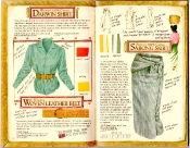 Banana Republic Catalog #35 Darwin Shirt, Woven Leather Belt, Sarong Skirt