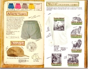 Banana Republic Catalog #35 Athletic Shorts, Banana Republic Safari Cap, Old English Wildlife Engraving T-Shirts