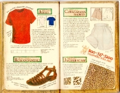 Banana Republic Catalog #35 Cotton Jersey, Roman Sandals, Copacabana Shorts, Jaguar Scarf
