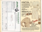 Banana Republic Summer 1985 Update #24 Mail Order, Weekend Dress, Leather D-Ring Belt, Women's Irish Linen Pullover