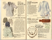 Banana Republic Summer 1985 Update #24 Banana Republic #23 Summer 1985 Tropical White Shirt, Riviera Shorts, Danish Miller's Shirt, Collar Stud Belt, African Beaded Necklaces