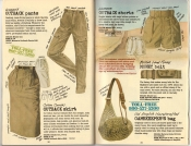 Banana Republic Summer 1985 Update #24 Women's Outback Pants, Outback Skirt, Women's Outback Shorts, British Land Forces Belt, Gamekeeper's Bag