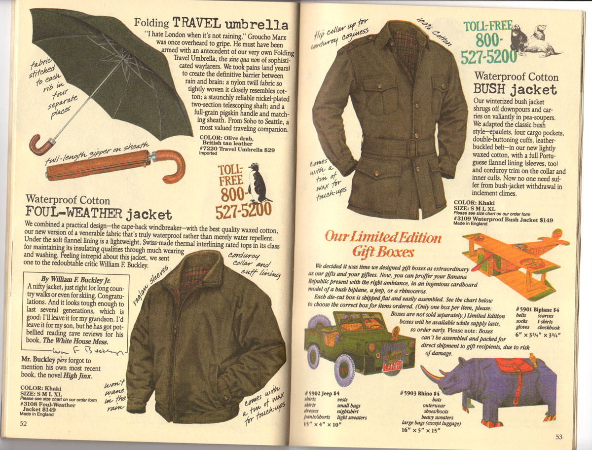 Banana Republic Catalog No 30 Holiday 1986 Abandoned