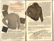 Banana Republic Catalog #30 Holiday 1986 Whole Grain Sweater, Flight Jacket, Aviator's Scarf