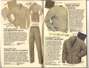 Banana Republic Catalog #30 Holiday 1986 Houndstooth Shirt, Covert Twill Trousers, Moss-Stitch Sweater, Country Cardigan