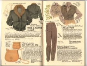 Banana Republic Catalog #30 Holiday 1986 Wool & Mouton Jacket, Ex-Hunting Bag, Cabled Vest, Gabardine Trousers