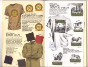 Banana Republic Catalog #30 Holiday 1986 Diplomatic T-Shirts, Bombay Shirt, Old English Wildlife Engraving T-Shirt