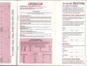Banana Republic Catalog #30 Holiday 1986 Order Form