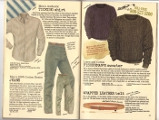 Banana Republic Catalog #30 Holiday 1986 Ticking Shirt, Denim Jeans, Fisherman's Sweater, Wrapped Leather Belt