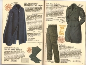Banana Republic Catalog #30 Holiday 1986 French Naval Cape, West German Overcoat, Nato Fatigues