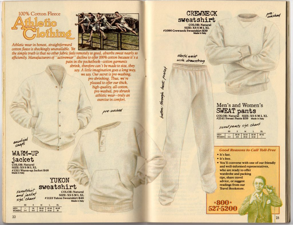 Banana Republic Spring 1987  Athletic CLothing