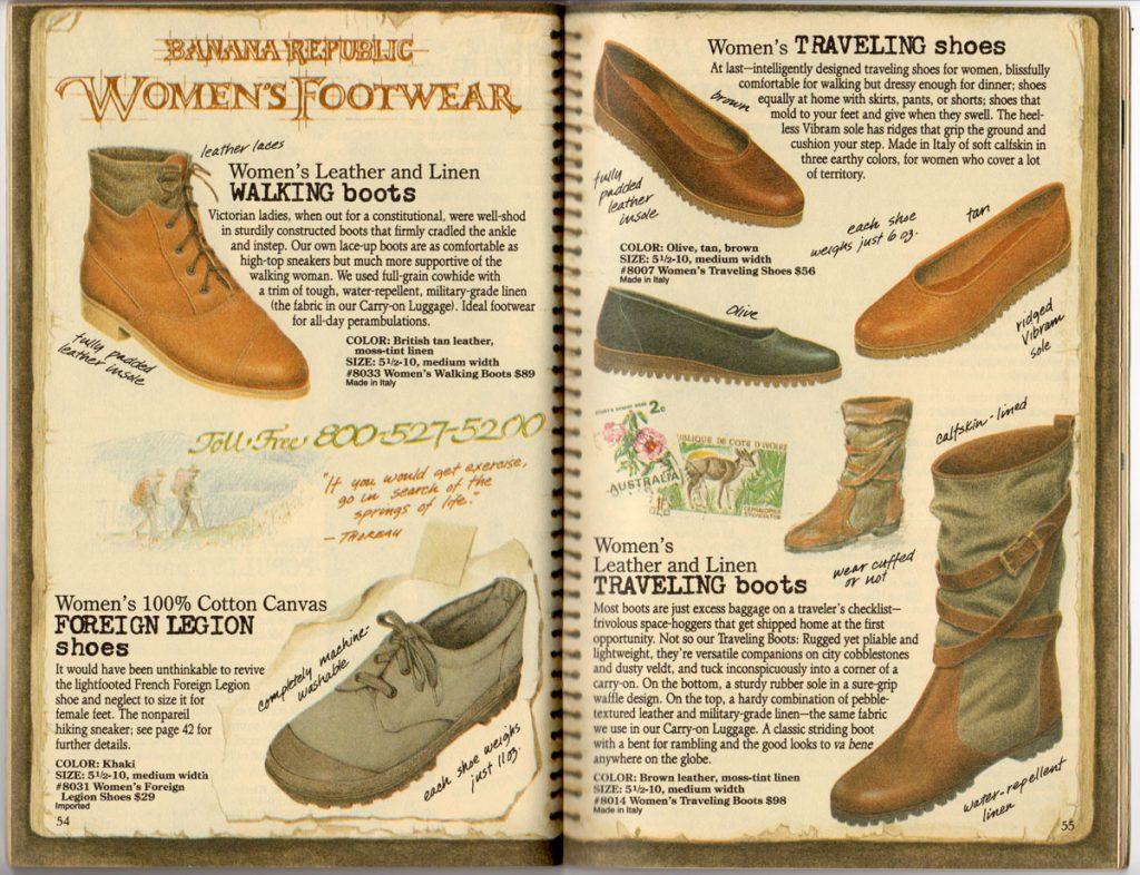 Banana Republic Spring 1987 Women's Shoes