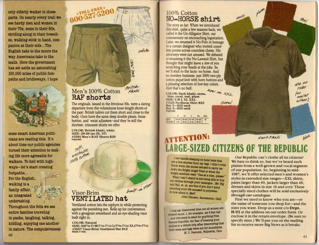 Banana Republic Spring 1987 RAF Shorts, No Horse Shirt, Ventilated Hat, Large Sizes,