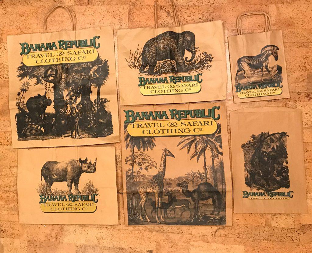 Banana Republic Travel & Safari Vintage Shopping Bags